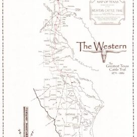 Map Of The EasternChisholm Trail System - Chisholm trail map