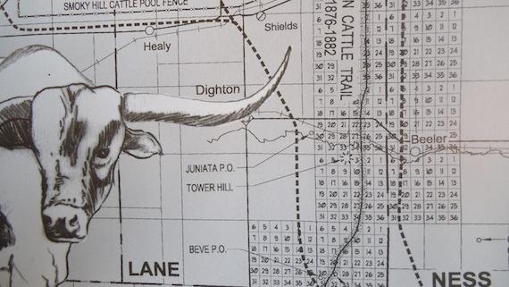 Dighton, KS Near Western Cattle Trail