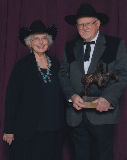 Gary and Margaret receive Wrangler Award