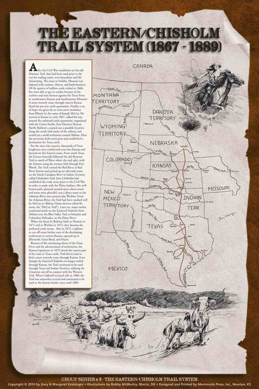 Indian Trail Dodge >> Map of the Eastern/Chisholm Trail System (1867-1889)