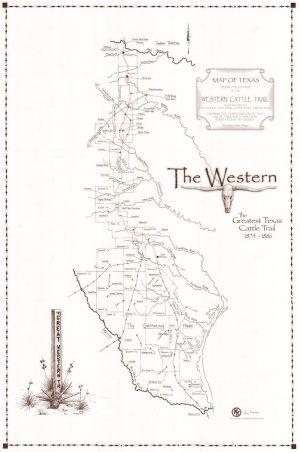 Western CattleTrail In Texas