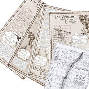 Western Cattle Trail State Maps Set