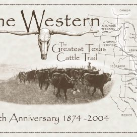 Western Cattle Trail 130th Anniversary Poster